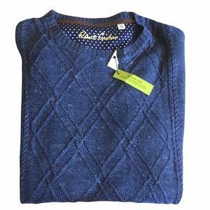 NEW Robert Graham Blue Knit 100% Linen Sweater Size 3XL